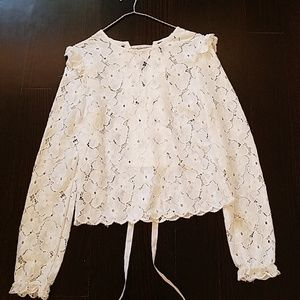 H&M divided size 2 white top